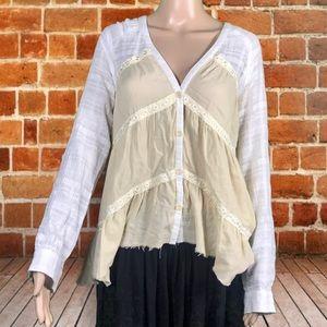 Free People bohemian blouse